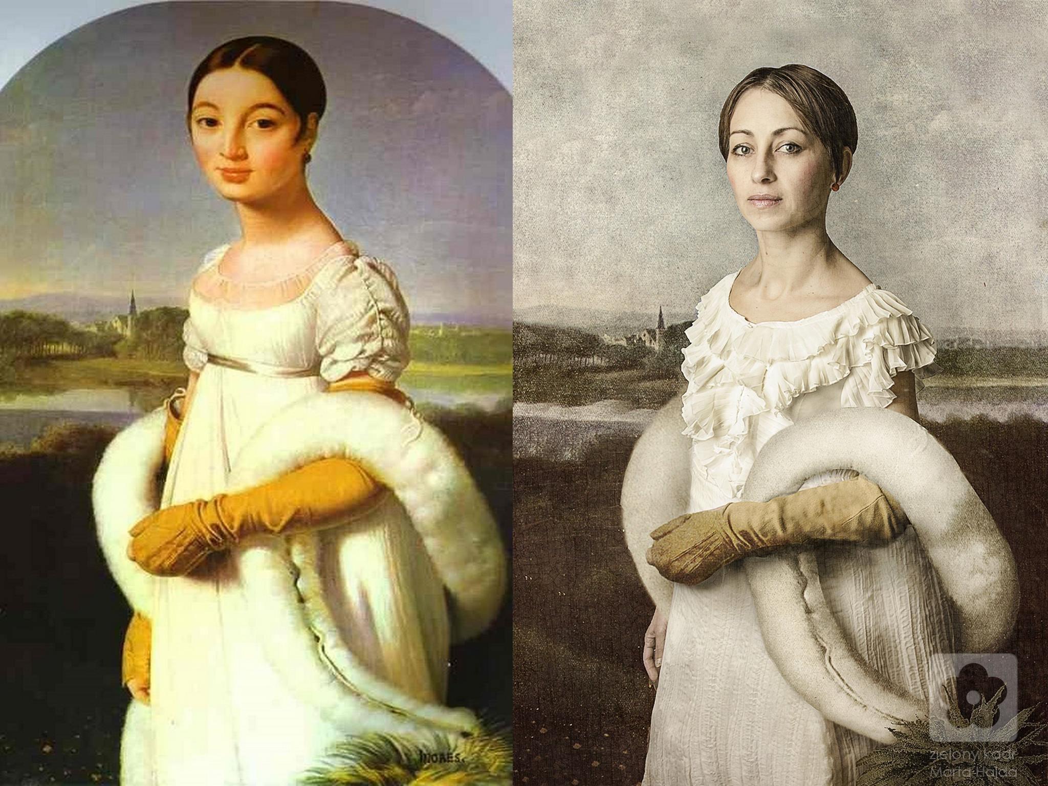 Jean-Auguste-Dominique Ingres, Portret Pani Rivier, 1806