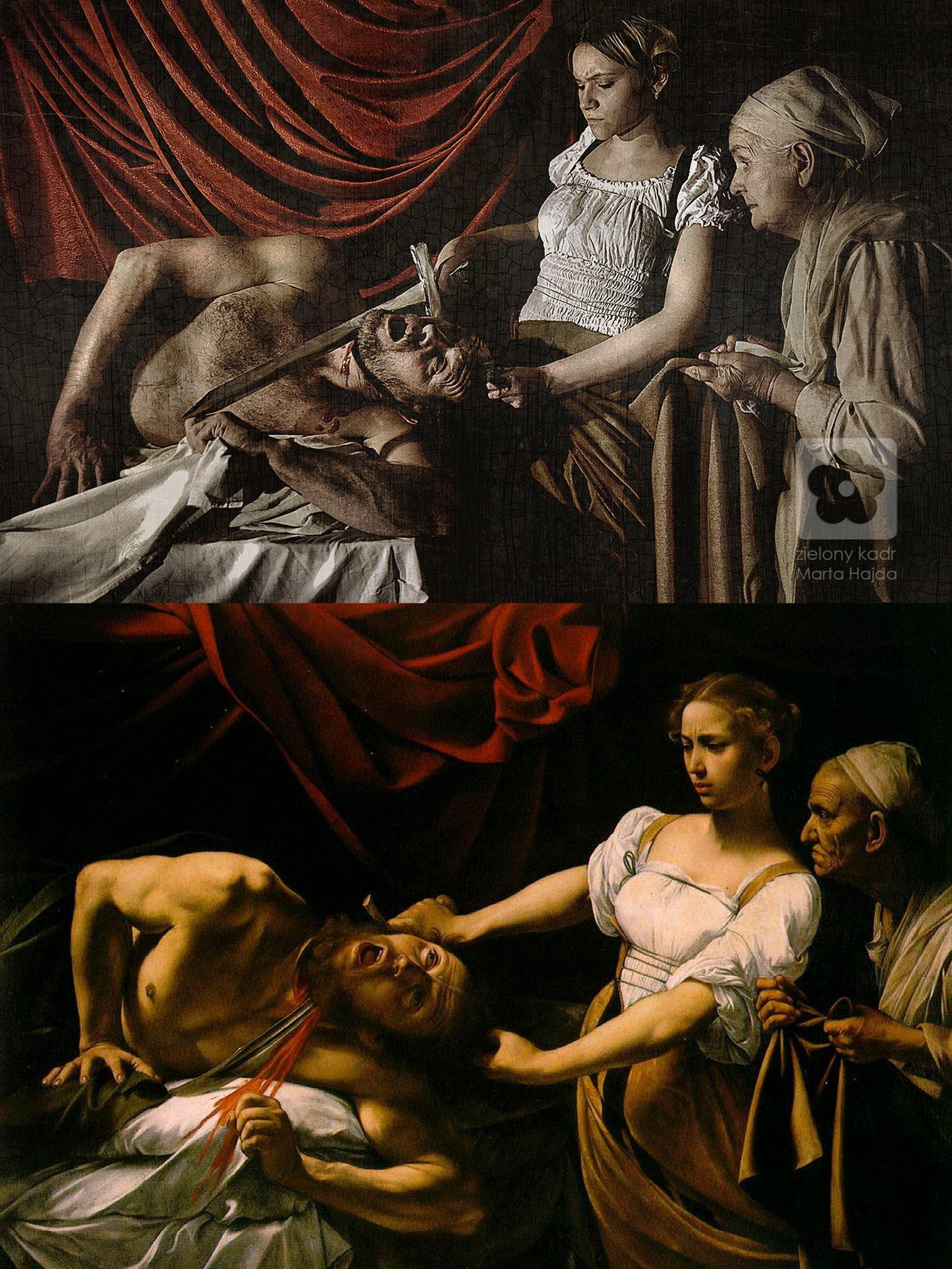 Caravaggio, Judyta odcinająca głowę Holofernesowi, 1599