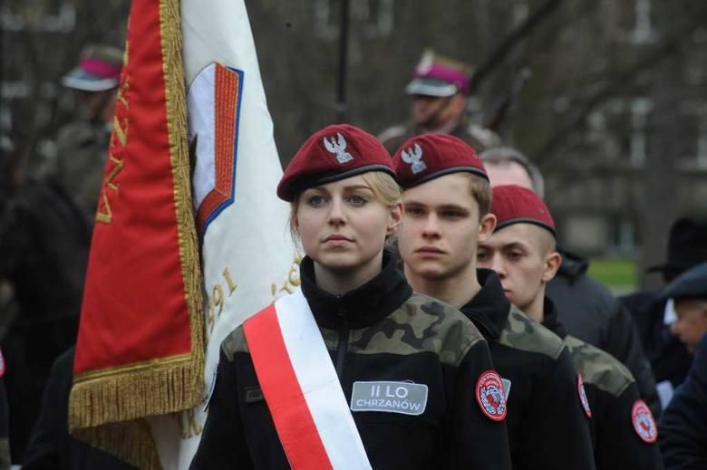 Kraków uczcił pamięć o żołnierzach wyklętych. Klasy mundurowe wzięły udział w uroczystościach.