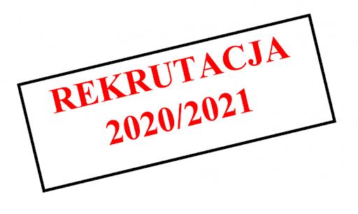NOWY REGULAMIN REKRUTACJI 2020/2021